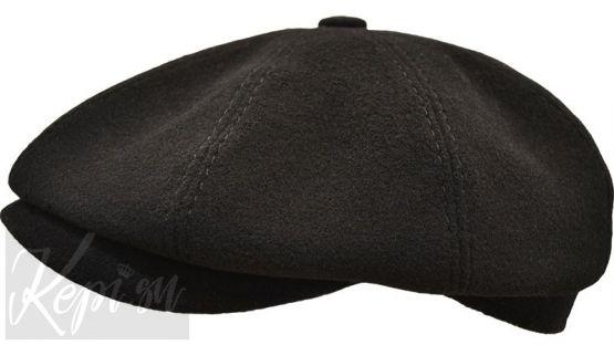 Кепки мужские шерстяные восьмиклинки (блэк и инк) - черная и синяя